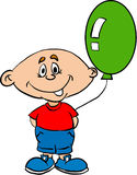 Little boy. With a balloon royalty free illustration