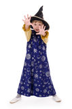 Little boy. Boy dressed as astrologer. Isolated on white Royalty Free Stock Images