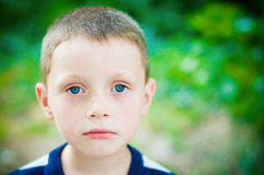 Little boy. On nature Stock Images