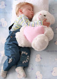 Little boy. The small beautiful boy sleeps a head on a pillow Royalty Free Stock Images