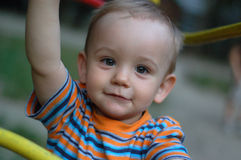 Little boy. Playing at playground Royalty Free Stock Images