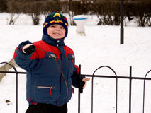 Little boy. The little boy in the street in the winter Stock Photography