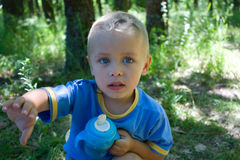 Little boy. A little boy is in a park Stock Photography