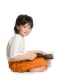The little boy. Wish little broun book Royalty Free Stock Photo