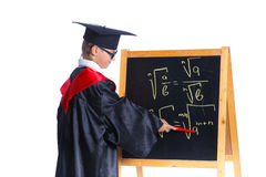 Little boy in academic hat Royalty Free Stock Images