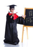 Little boy in academic hat Royalty Free Stock Photos
