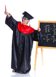 Little boy in academic hat Stock Photo