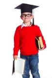 Little boy in academic hat Stock Image
