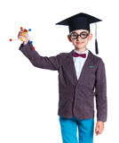 Little boy in academic hat Royalty Free Stock Photography
