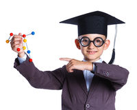Little boy in academic hat Stock Photography