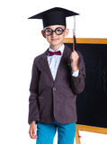 Little boy in academic hat Royalty Free Stock Photo