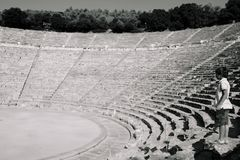 The ancient theater of Epidaurus in Greece. royalty free stock photos