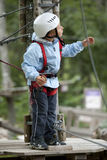 Little boy in adventure park Royalty Free Stock Images