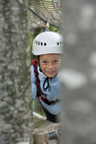 Little boy in adventure park Royalty Free Stock Photography
