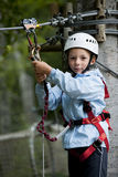 Little boy in adventure park Stock Photography