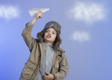 Little boy with a airplane. Stock Photography