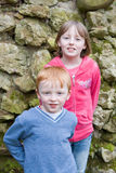 Little Boy And His Sister Stock Photo