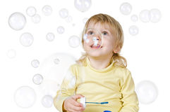 Free Little Boy And Soap Bubbles Stock Photo - 28335070