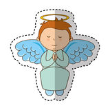 Little boy angel character Stock Images