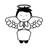 Little boy angel character Royalty Free Stock Photo