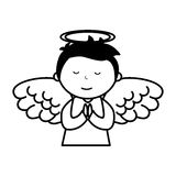 Little boy angel character Royalty Free Stock Image