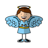 Little boy angel character Stock Photography