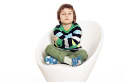 Little boy angry Stock Photo
