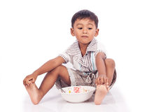 Little boy  anorexia Royalty Free Stock Photo