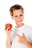 Little boy with apple Royalty Free Stock Images