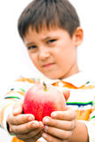A little boy with an apple Royalty Free Stock Photography