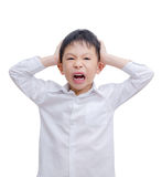 Little Boy arrabbiato Immagine Stock Libera da Diritti