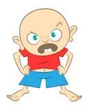 Little Boy arrabbiato illustrazione vettoriale