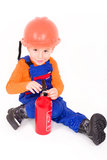 Little boy as a firefighter Royalty Free Stock Photos
