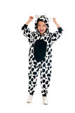 Little boy as happy cow Royalty Free Stock Photo