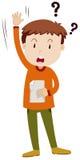 Little boy asking question. Illustration Stock Image