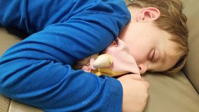 Little boy asleep Royalty Free Stock Photos