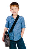 Little boy with bag Stock Photography