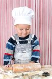 Little boy baking Royalty Free Stock Images