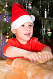 Little boy baking cookies Stock Photography