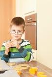 Little boy is baking Stock Photo