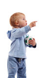 Little boy with ball. Little boy woth soccer ball in a hands Stock Photo