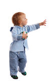 Little boy with ball. Little boy hold a soccer ball in his hands stock image