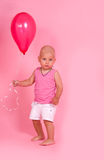 Little boy with balloon Stock Photos