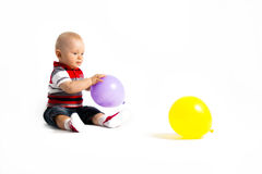 Little boy and balloons Royalty Free Stock Photos