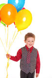 Little boy with balloons. Royalty Free Stock Photos
