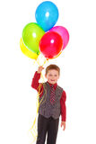 Little boy with balloons. Stock Photos