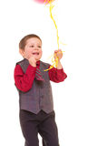 Little boy with balloons. Stock Images