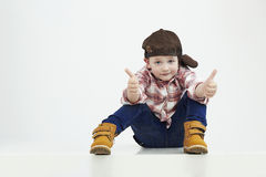 Little Boy Bambino alla moda Fashion Children Bambino divertente Fotografie Stock Libere da Diritti