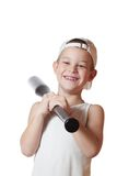 Little boy with a baseball bat Royalty Free Stock Images
