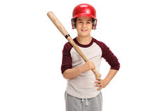 Little boy with a baseball bat Royalty Free Stock Photo